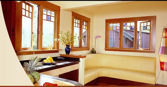 Modern fa ablakok